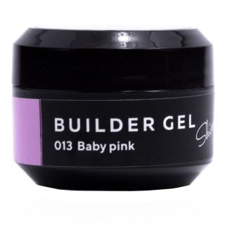 Гель для наращивания Builder GEL 1фазный с шиммером FRC 15 г (013 Baby pink)