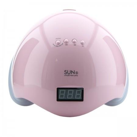 Лампа SUN 5 LED/UV гибрид с дисплеем 48 Вт (Pink)
