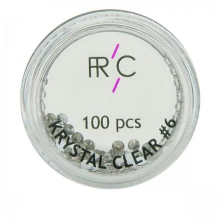 Стразы цветные 6 FRC 100 шт (Cristal)