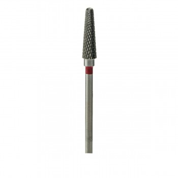 Фреза ТВС Конус куполообразный 201 мелкая крестообразная нарезка (XF) (красная 040)