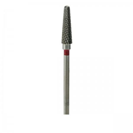 Фреза ТВС Конус куполообразный 201 мелкая крестообразная нарезка (XF) (красная 060)