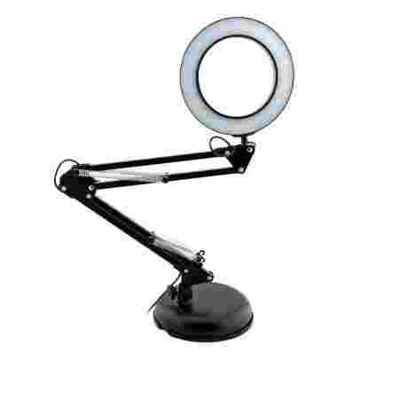 Лампа French LED 8w настольная для маникюра кольцо 105*(USB) (Черная)