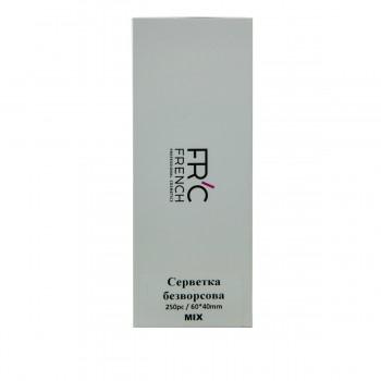 Салфетки безворсовые FRC 6*4 см ( в коробке) 250 шт (Mix)