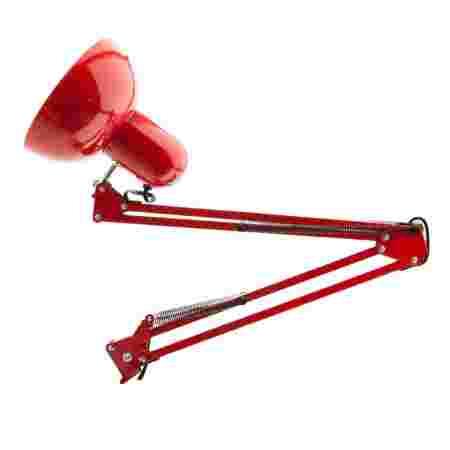 Лампа настольная на струбцине (Красная)