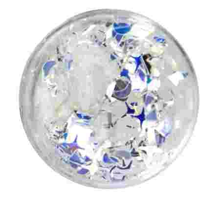Конфетти Глобал белая голограмма в баночке
