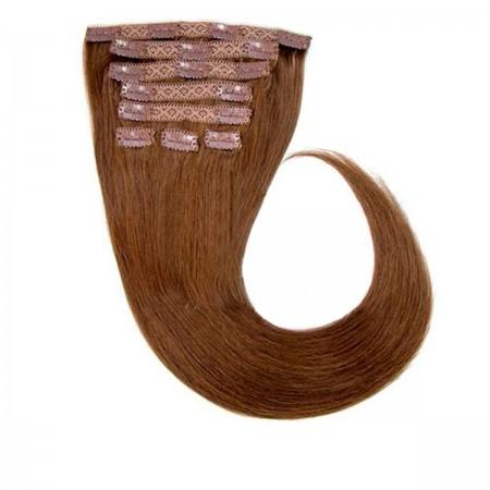 Волосы на заколках Human Hair Е 75 см 120 г (+/- 5 г) (8 прядей) 04