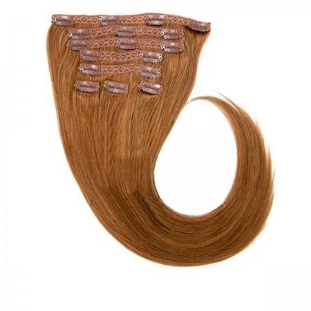 Волосы на заколках Human Hair Е 75 см 120 г (+/- 5 г) (8 прядей) 08