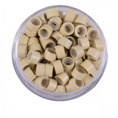 Микрокольца с силиконом Human Hair блонд 500 шт
