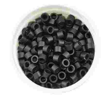 Микрокольца с резьбой Human Hair черные 1000 шт