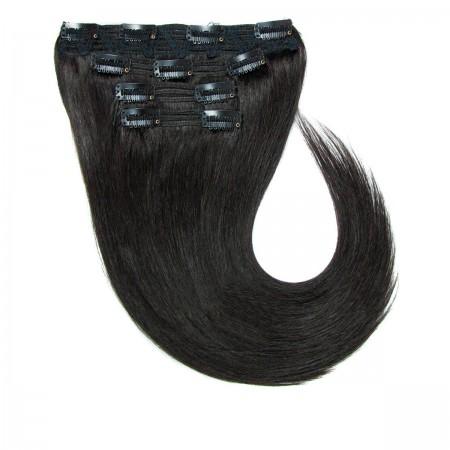 Волосы на заколках Human Hair Е 66 см 120 г (+/- 5 г) (8 прядей) 01В