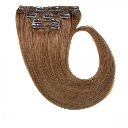 Волосы на заколках Human Hair Е 55 см 120 г (+/-5 г) (4 пряди) 10