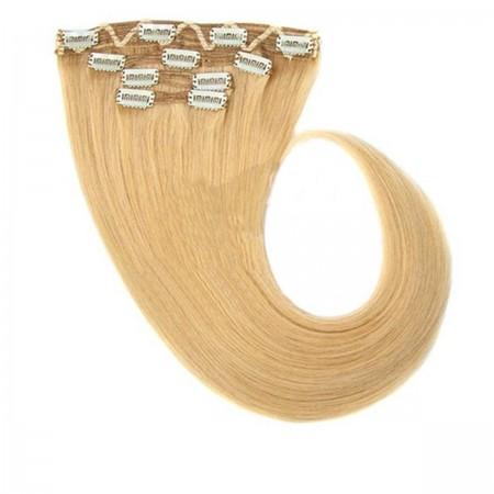 Волосы на заколках Human Hair Е 55 см 120 г (+/-5 г) (4 пряди) 016М