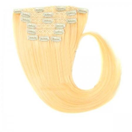 Волосы на заколках Human Hair Е 40 см 120 г (+- 5 г) (4 пряди) 22