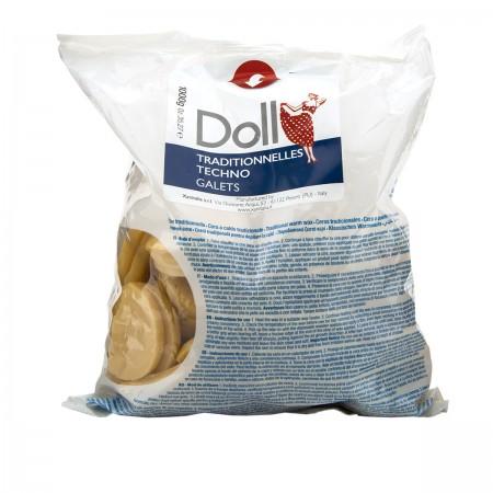 Воск горячий в дисках Doll натуральный 1 кг