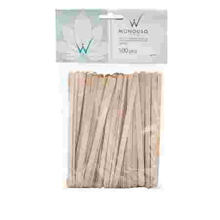 Шпатель деревянный узкий 100 шт