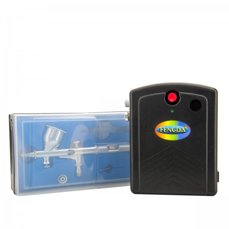 Набор для аэрографии в кейсе JVR Colours FENGDA AS-200BEBD-135E PRO (02)
