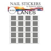 Трафареты-наклейки JVR Colours для nail art (010 линии)