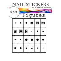 Трафареты-наклейки JVR Colours для nail art (020 фигуры)