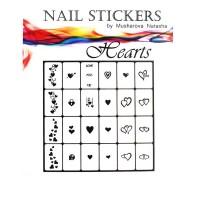 Трафареты-наклейки JVR Colours для nail art (050 сердца)