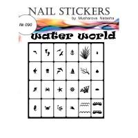 Трафареты-наклейки JVR Colours для nail art (090 водяной мир)