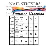 Трафареты-наклейки JVR Colours для nail art (100 летний отпуск)