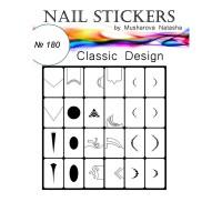 Трафареты-наклейки JVR Colours для nail art (180 классический дизайн)