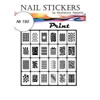 Трафареты-наклейки JVR Colours для nail art (190 принт)