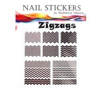 Трафареты-наклейки JVR Colours для nail art (260 зигзаги)
