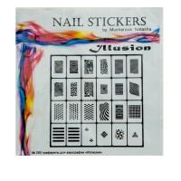 Трафареты-наклейки JVR Colours для nail art (280 иллюзия)