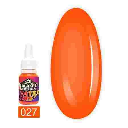 Краска для аэрографии JVR Colours WICKED FLUORESCENT 10 мл (027 orange)