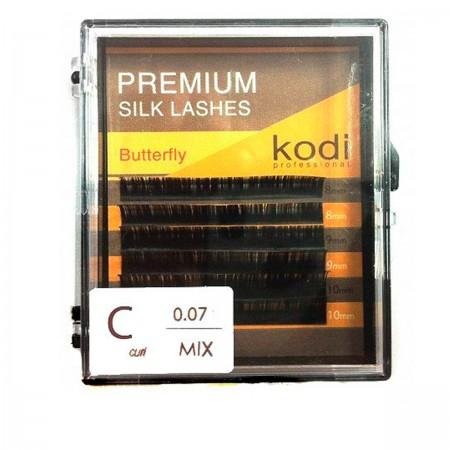 Ресницы KODI Butterfly 6 рядов черные 0,07*C 8-10