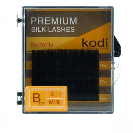 Ресницы KODI Butterfly 6 рядов черные 0,10*B 11-13