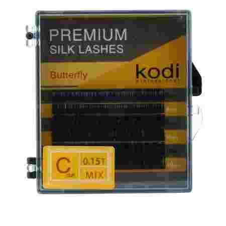 Ресницы KODI Butterfly 6 рядов черные 0,15*C 8-10