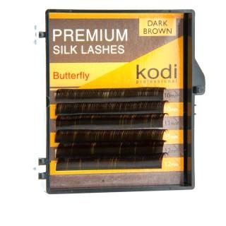 Ресницы KODI Butterfly 6 рядов темно-коричневые 0,15*C 10-12