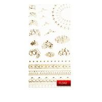 Наклейки для ногтей KODI Nail Art Stickers Gold 042FL