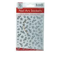 Наклейки для ногтей KODI Nail Art Stickers Silver 044SP