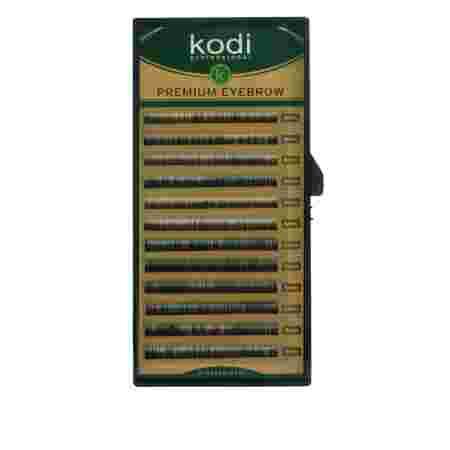 Брови KODI Straight Curl Черные 12 рядов (0,06 4-5 мм)