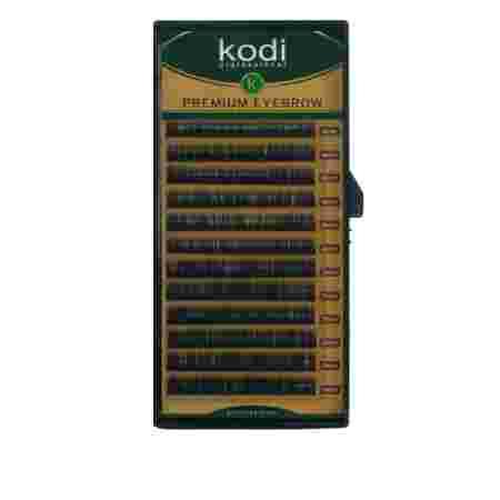 Брови KODI Straight Curl Черные 12 рядов (0,06 6-7 мм)