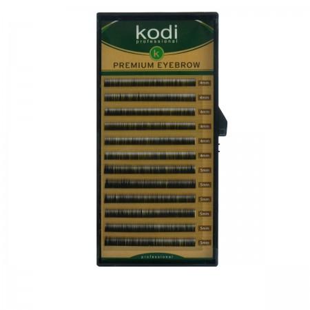 Брови KODI Straight Curl Черные 12 рядов (0,12 4-5 мм)