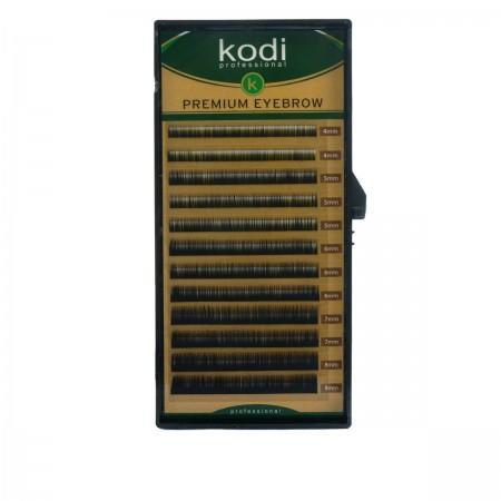 Брови KODI Straight Curl Черные 12 рядов (0,12 4-8 мм)