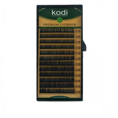 Брови KODI Straight Curl Черные 12 рядов (0,12 6-7 мм)