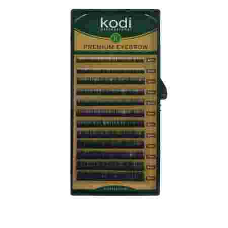 Брови KODI Natural Curl Черные 12 рядов (0,06 4-8 мм)