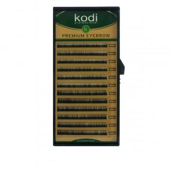 Брови KODI Natural Curl Черные 12 рядов (0,12 4-5 мм)