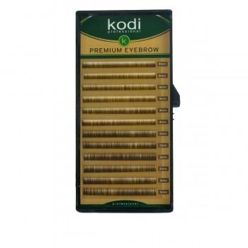 Брови KODI Straight Curl Темно-коричневые 12 рядов (0,06 4-5 мм)