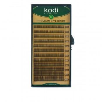 Брови KODI Straight Curl Темно-коричневые 12 рядов (0,06 4-8 мм)
