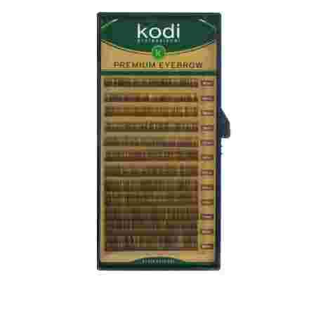 Брови KODI Natural Curl Темно-коричневые 12 рядов  (0,06 (4-8 мм)