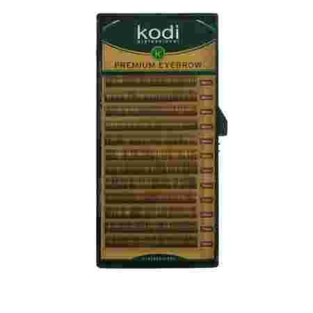 Брови KODI Natural Curl Темно-коричневые 12 рядов  (0,06 6-7 мм)