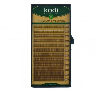 Брови KODI Natural Curl Натурально-коричневые 12 линий (0,10 4-8 мм)