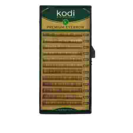 Брови KODI Straight Curl Натурально-коричневые 12 рядов (0,10 4-5 мм)