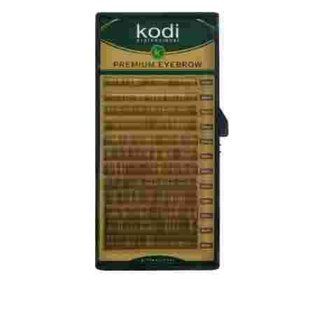 Брови KODI Straight Curl Натурально-коричневые 12 рядов (0,10 4-8 мм)